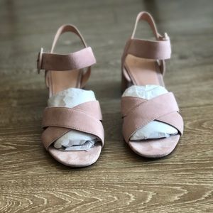 J. Crew sandal in pink suede